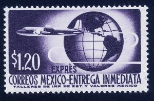 MEXICO E19 $1.20Pesos 1950 Definitive 2nd Printing wmk 300 MNH