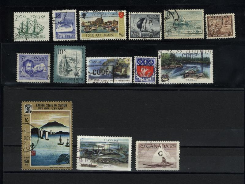Boats 38 different  Mint & used  PD