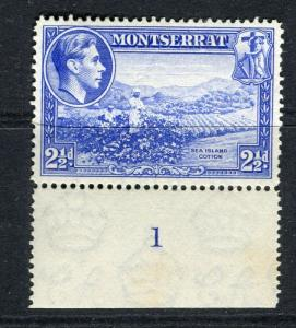 MONTSERRAT; 1938 early GVI issue fine Mint MNH unmounted 2.5d. Perf 14