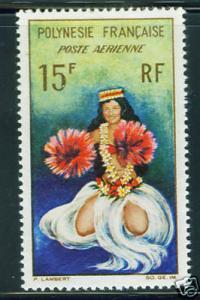 FRENCH POLYNESIA dancer Scott C30  MH* CV $4