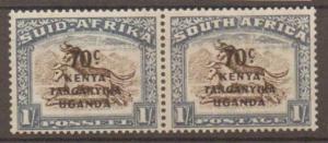 KENYA, UGANDA & TANGANYIKA SG154 1941 70c on 1/= BROWN & CHALKY BLUE MTD MINT