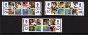 Isle of Man Sc 710-15 1996 UNICEF 50 years stamp set mint NH