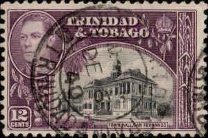 TRINIDAD & TOBAGO - 1940 G.P.O. PORT OF SPAIN/TRINIDAD CDS on SG252 - Ref.833e