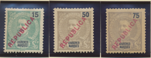 Lourenco Marques Stamps Scott #146 To 148, Mint Hinged, No Gum - Free U.S. Sh...