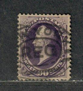 US Sc#218 Used/VF-EF, Cv. $225