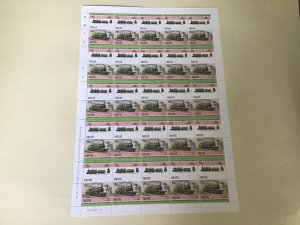 Nevis Nord L'Outrance  Railway Locomotive Train MNH full  stamps sheet 49526
