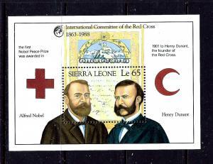 Sierra Leone 1009 MNH 1988 Red Cross souvenir sheet