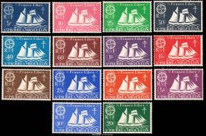 Saint Pierre & Miquelon Scott 300-313 Mint never hinged.