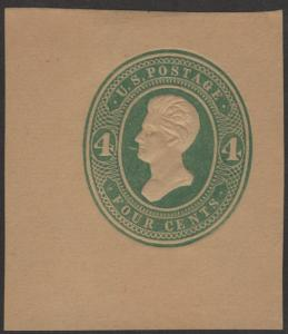 SC#U259 4¢ Jackson Cut Square (1886) Unused