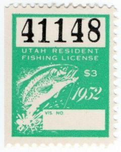 (I.B) US Revenue : Fishing License $3 (Utah)