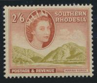 Southern Rhodesia  SG 88 SC# 92  Mint lightly Hinged Kariba Gorge