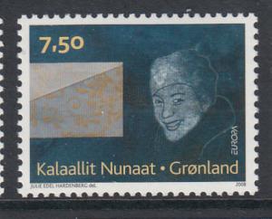 Greenland MNH 2008 Scott #512 7.50k Woman, envelope - EUROPA
