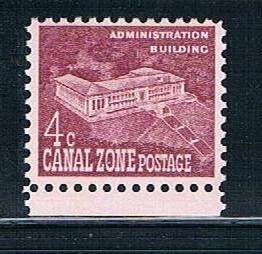 Canal Zone 152: 4c Administration Building, single, MNH, F-VF