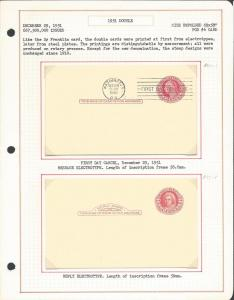 MR22, Study of Usages & Shades, (UY13, m, r), , Postal Cards