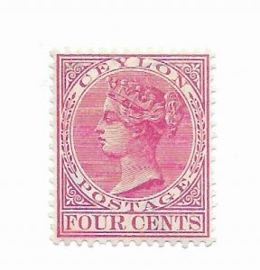 Ceylon #88 MH - Stamp - CAT VALUE $5.25