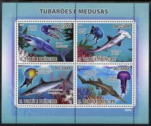 St Thomas & Prince Islands 2009 Sharks & Jelly Fi...