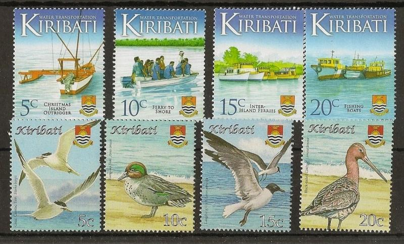 Kiribati 2008 Birds + Water Transport MNH
