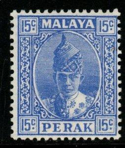 MALAYA PERAK SG114 1941 15c BRIGHT ULTRAMARINE MTD MINT