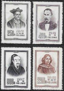 People's Republic of China 202-205 Unused/NGAI- Famous People