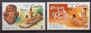 CUBA SC# 3149-3150 UPAEP AMERICA Issue Natives CPL SET of 2 1989 MNH mint