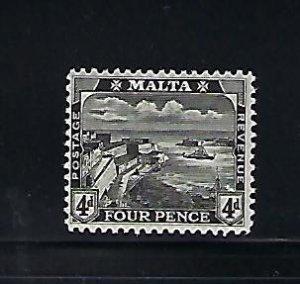 MALTA SCOTT #63 1915 VALLETTA HARBOR 4D (BLACK) MINT LIGHT HINGED