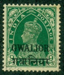 India Gwalior #92  Mint VF  Scott $60.00   No Gum