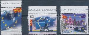 Makedonien stamp Joining to EU margin set MNH 2008 Mi 464-466 WS173121