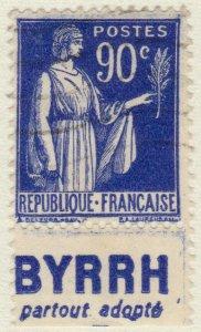 FRANCE - 1938 Pub BYRRH (partout adopté)  sur Yv.368a 90c Paix t.I