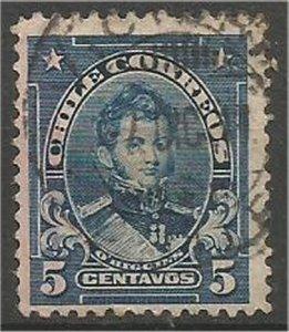 CHILE, 1911  used 5c, O'Higgins Scott 101