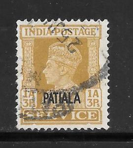 India Convention States Patiala #O68 Used Single