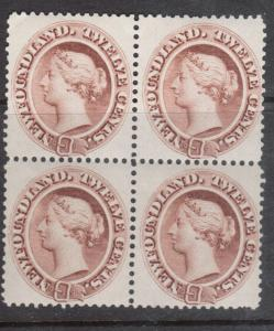 Newfoundland #29 VF/NH Block **With Certificate**