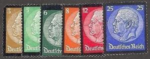 Germany #436 - 41 Mint  VF NH