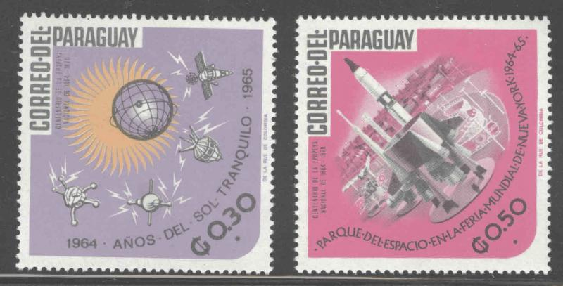 Paraguay Scott 922-923 MH* stamps
