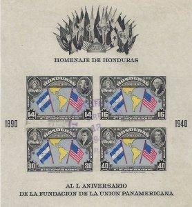 Honduras C154 imperf USED SCV $6.50 BIN $3.25 FLAGS