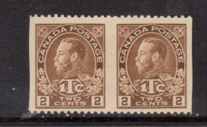 Canada #MR4ii XF Mint Imperf Pair **With Certificate**