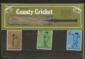 1973 COUNTY CRICKET ANNIVERSARY PRESENTATION PACK 51