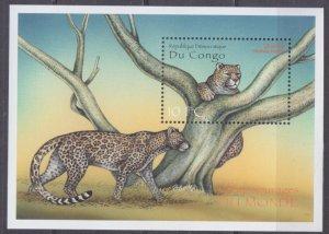 2000 Congo Kinshasa 1450/B88 Cats - Leopard 7,50 €