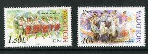 MOLDOVA 409-10 SCV $3.25 BIN 1.75 COSTUMES