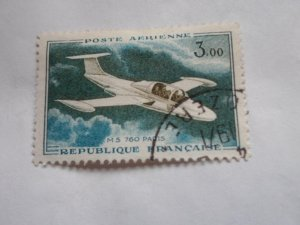 FRANCE STAMP USED FINE CON NO HINGE MARKS # C- 34