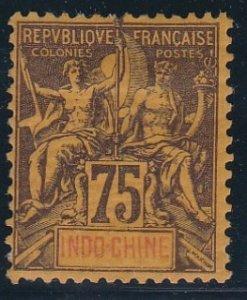 Indo-China # 19, Navigation & Commerce, Hinged, 1/3 Cat.