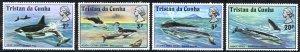 Tristan Da Cunha Sc# 202-205 MNH 1975 Whales