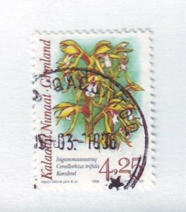 Greenland Sc 280 1996 4.25 kr Orchid stamp used