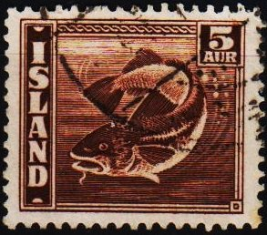 Iceland. 1939 5a S.G.244a Fine Used