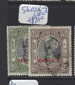 INDIA NATIVE STATE JAIPUR   (P0807B)  SG  O28-9    VFU