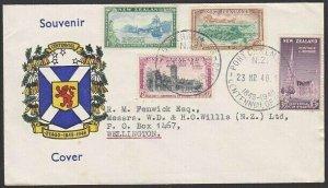 NEW ZEALAND 1948 Otago set on cover Port Chalmers Centennial commem pmk.....1719