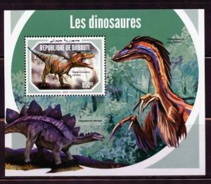 DJIBOUTI 2018 DINOSAURS  SOUVENIR SHEET  MINT NEVER HINGED