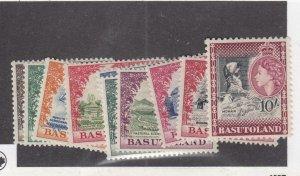 BASUTOLAND (MK3837) # 46-52,54-56  VF-MLH 1953 QEII CORONATION ISSUE CAT VAL $85