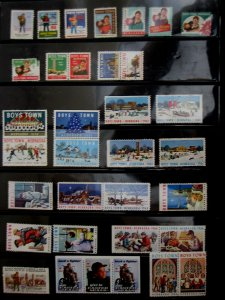 US - ASSORTMENT BOY'S TOWN SEALS & STAMPS