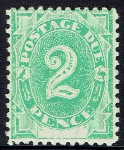 AUSTRALIA 1902 POSTAGE DUE 2D MNH ** PERF 11.5,12