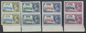 Northern Rhodesia, Scott 18-21 (SG 18-21), MNH pairs